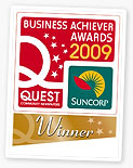 We won the Quest Business Achiever Awards for 2009