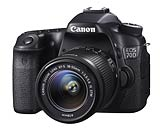 Canon EOS 70D digital SLR camera. Photography courtesy Canon