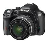 Pentax K-50 weatherproof digital SLR camera. Photography courtesy Pentax