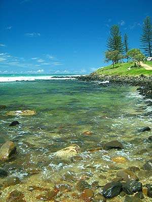 Burleigh Heads, Qld. Taken through polarising sunnies, with colour set to