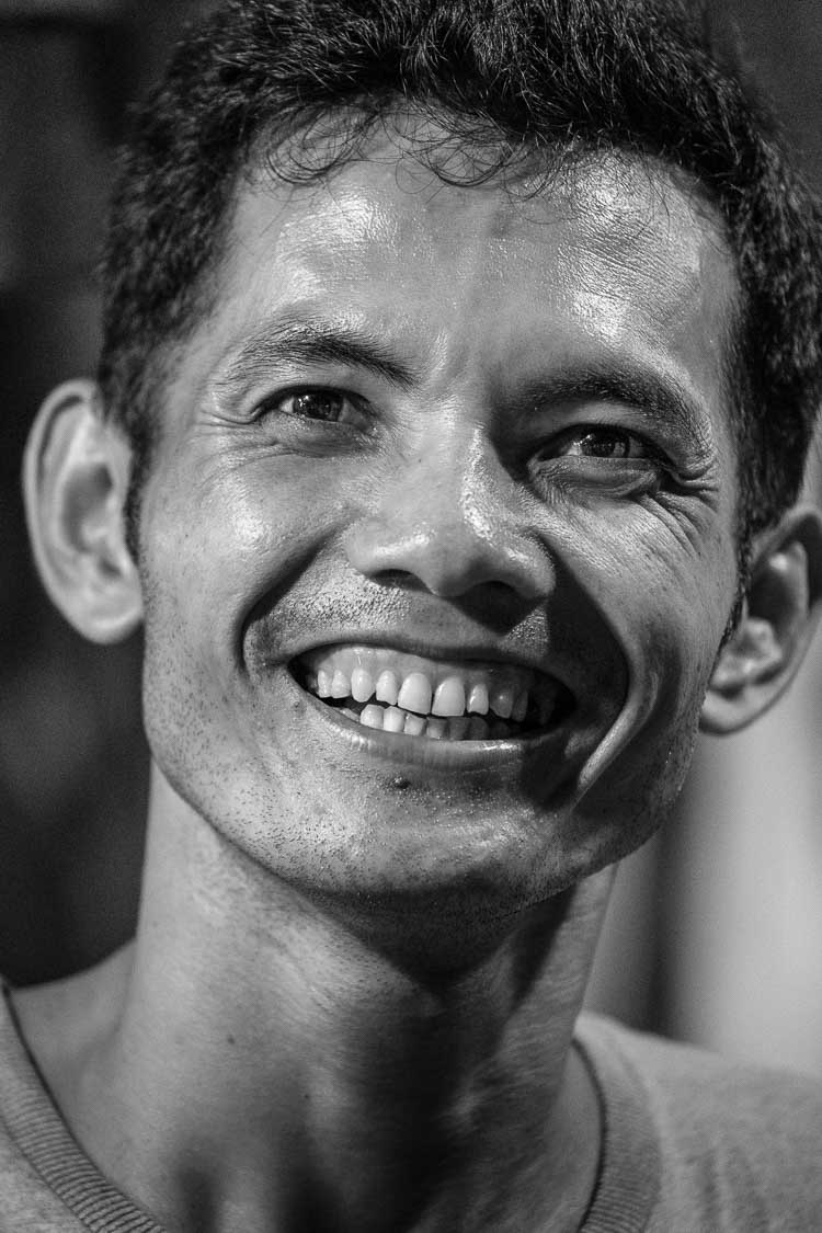 Portrait of a street vendor at Siem Reap