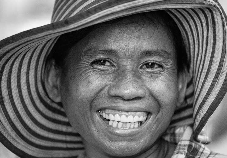 Portrait of a street vendor, Siem Reap, Cambodia