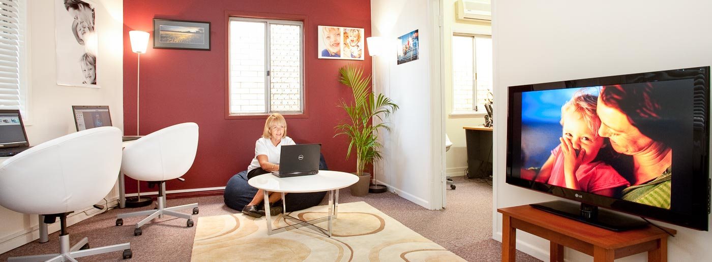 Our photo editing suite in Annerley, Brisbane