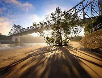 Brisbane's Storey Bridge on a wide angle lens