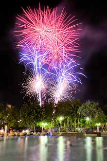 Fireworks at Brisbane's South Bank