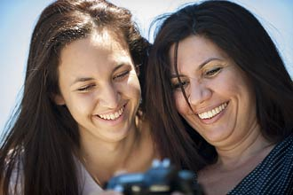 Mother and daughter together on a Capturing Joy photography course