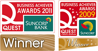 Logos from winning business of the year