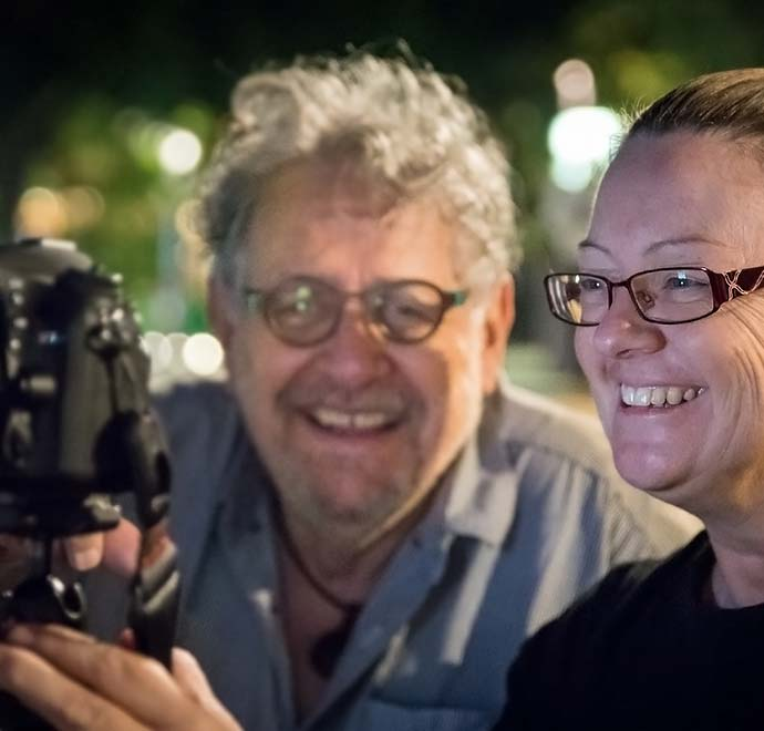 Steve Parish on a night photography course in Brisbane's South Bank