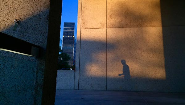 Brisbane cultural centre shadows at sunset