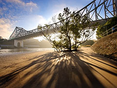 Story bridge at dawn in Brisbane. Digital SLR with ultra-wide-angle lens