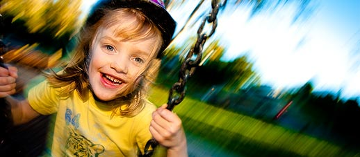 Swinging in the park. We show you how to use blur creatively