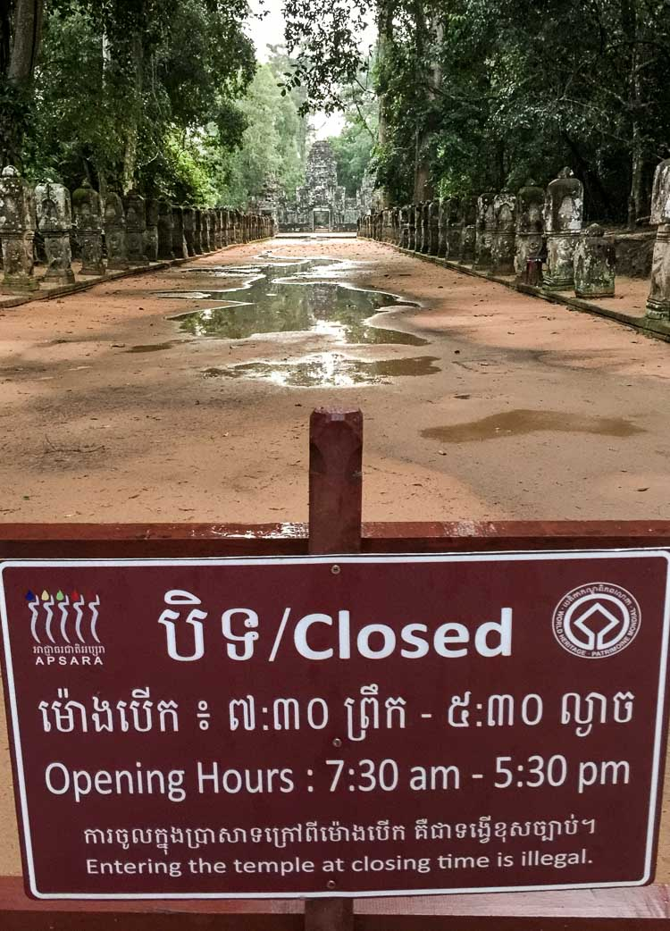 New opening hours for Cambodian temples