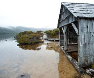 Boatshed at Cradle Mountain
